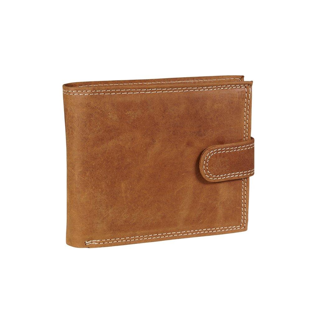 Kožená RFID Secure peněženka N992L-CHM koňak