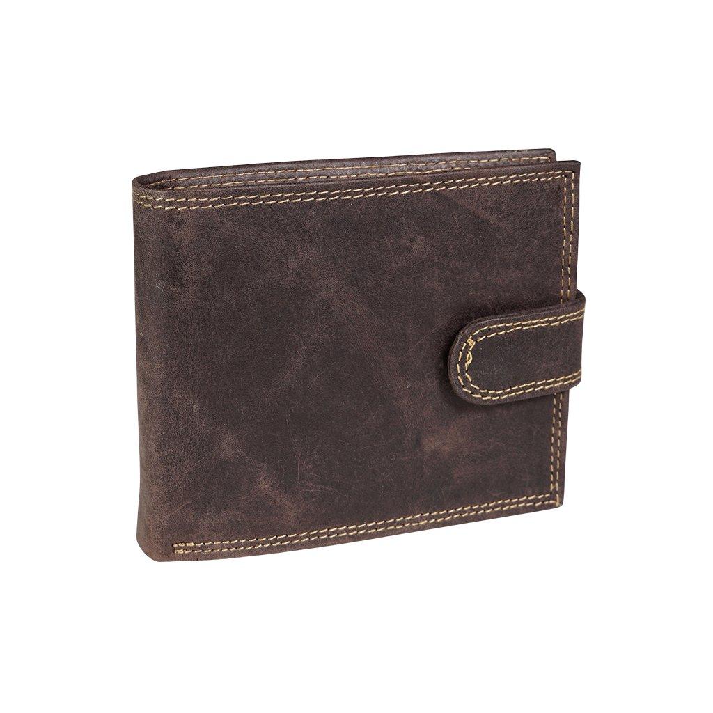 Kožená RFID Secure peněženka N992L-CHM hnědá