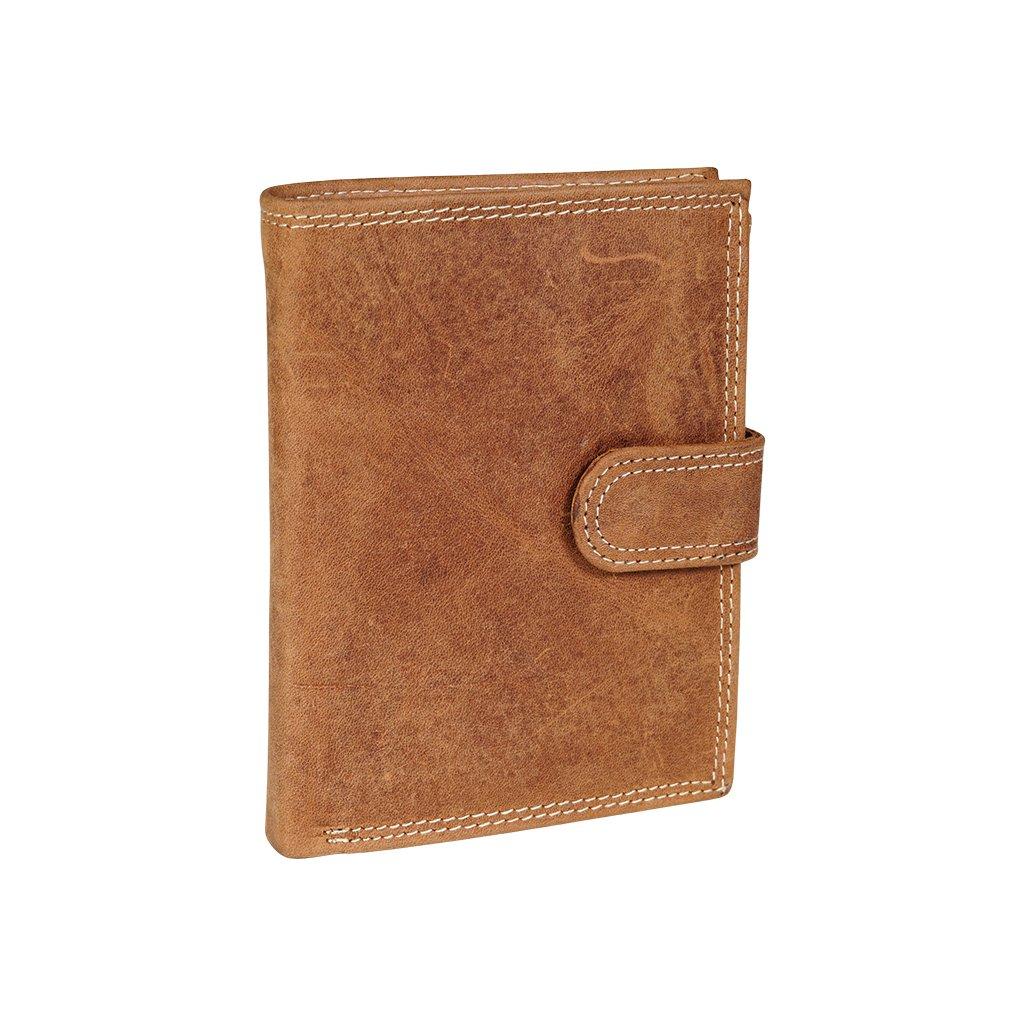 Kožená RFID Secure peněženka N4L-CHM koňak