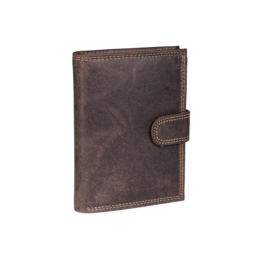 Kožená RFID Secure peněženka N4L-CHM hnědá