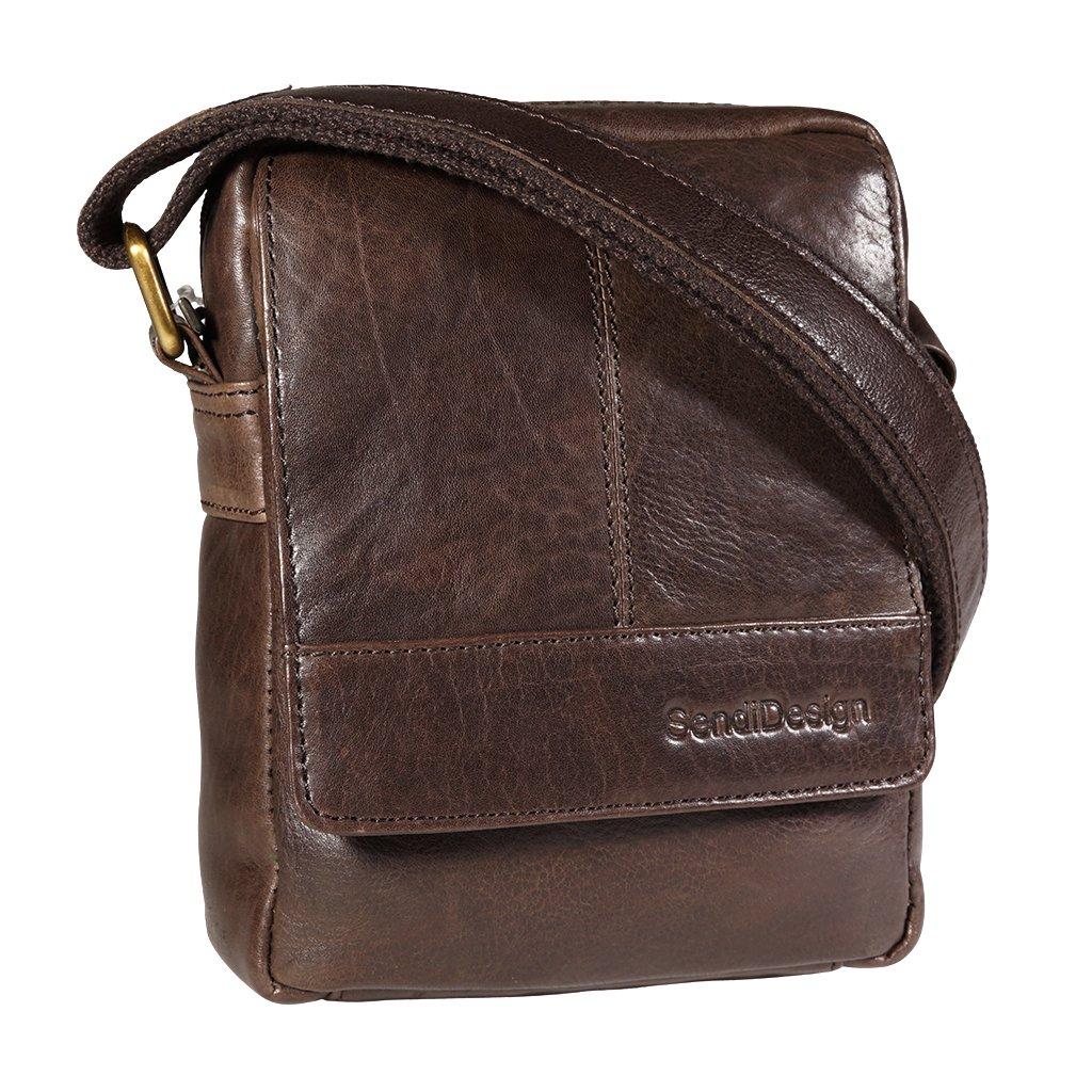 Kožená taška přes rameno SendiDesign M-110 hnědá