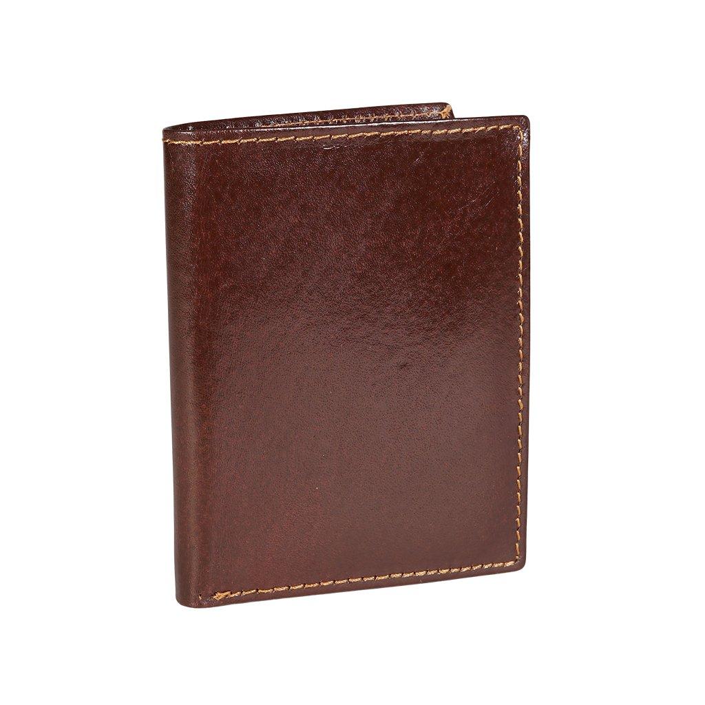 Kožené pouzdro na karty s RFID hnědé