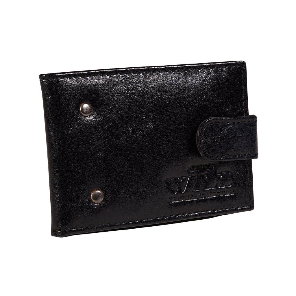 Stylové kožené pouzdro na karty Always Wild černé