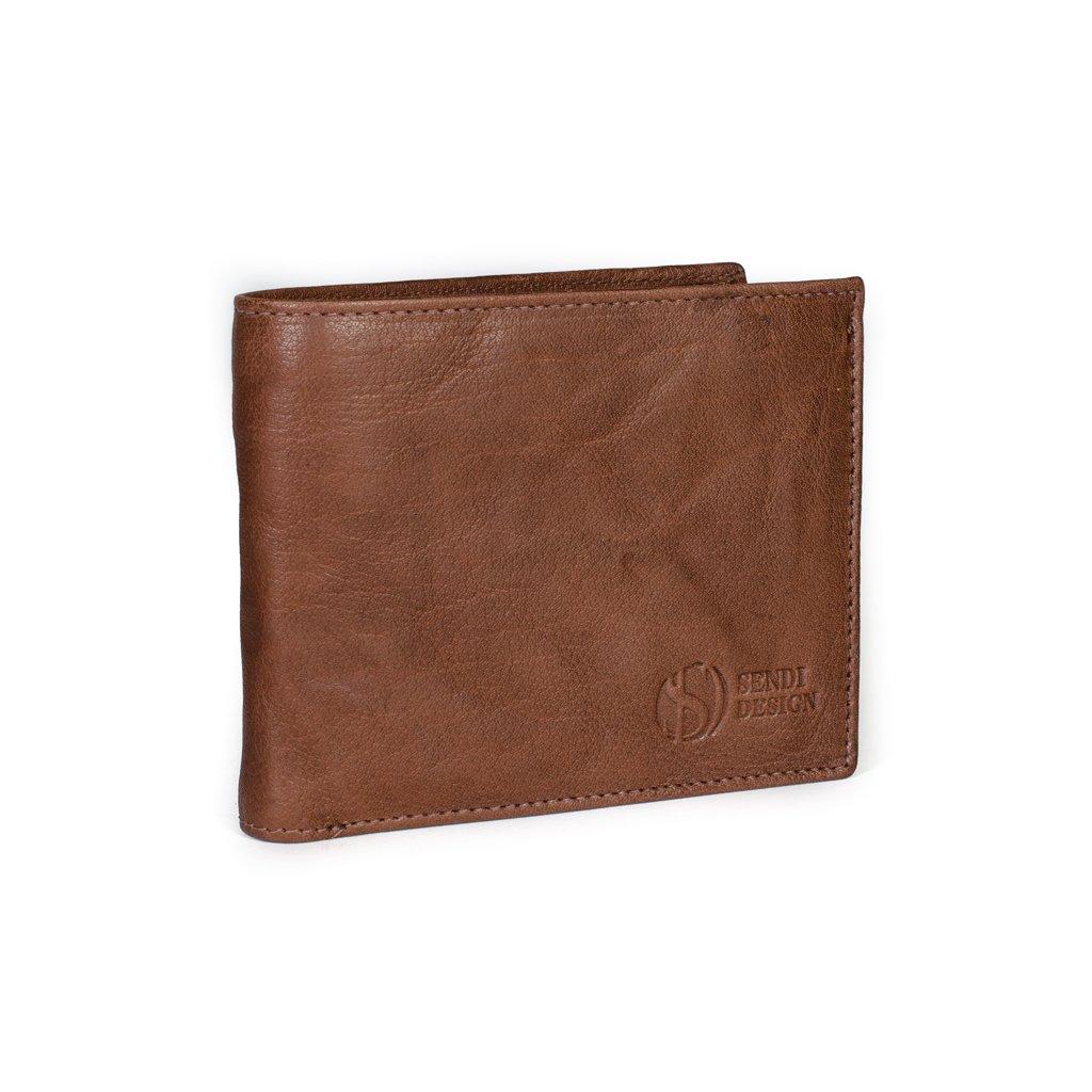 Pánská kožená peněženka SendiDesign SNW-6856 hnědá