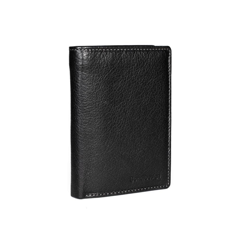 Pánská kožená peněženka SendiDesign B221 černá
