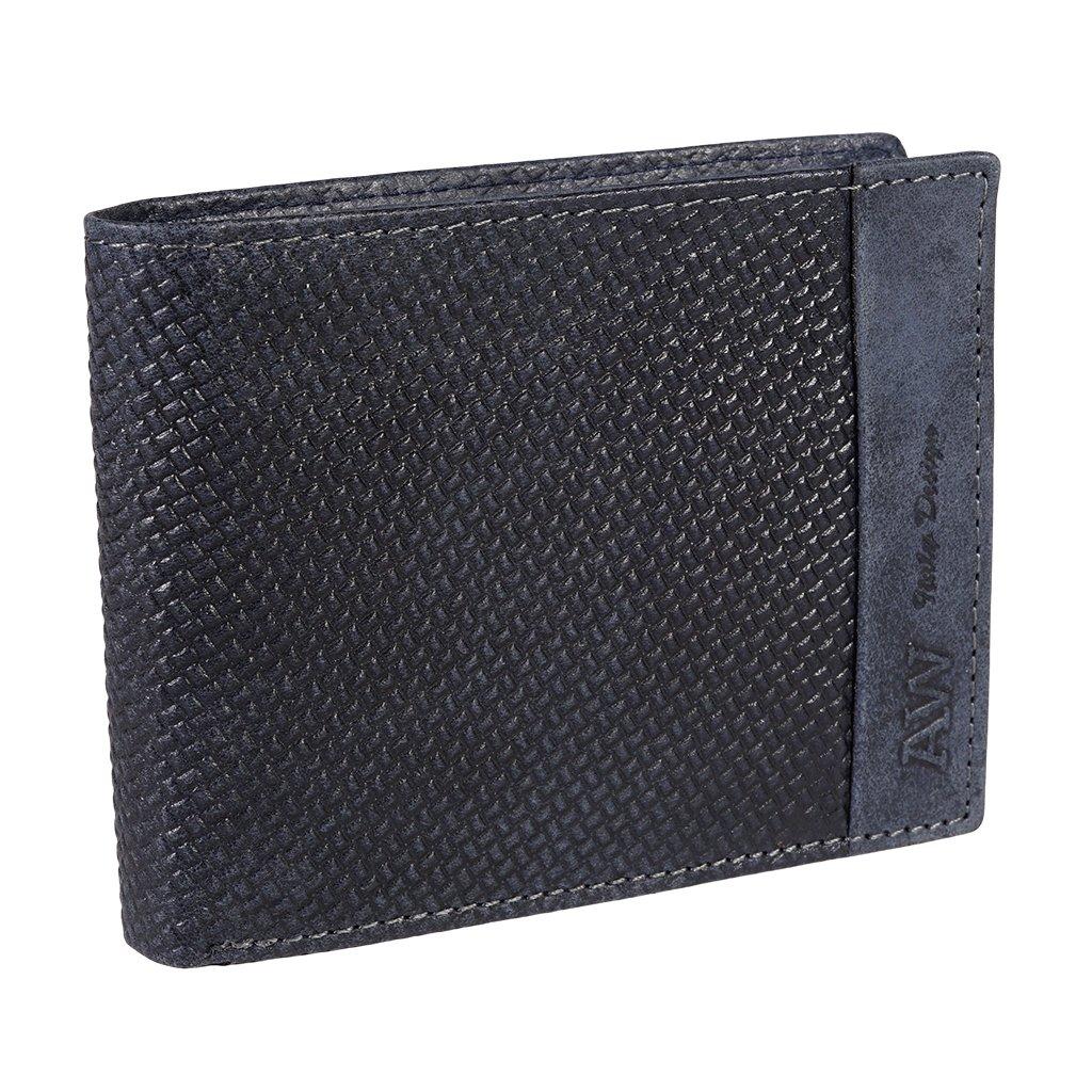Kožená RFID peněženka Always Wild N992-BUP/7627 modrá