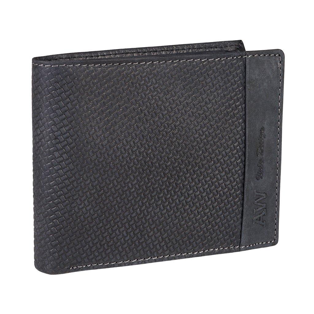 Kožená RFID peněženka Always Wild N992-BUP/7603 černá
