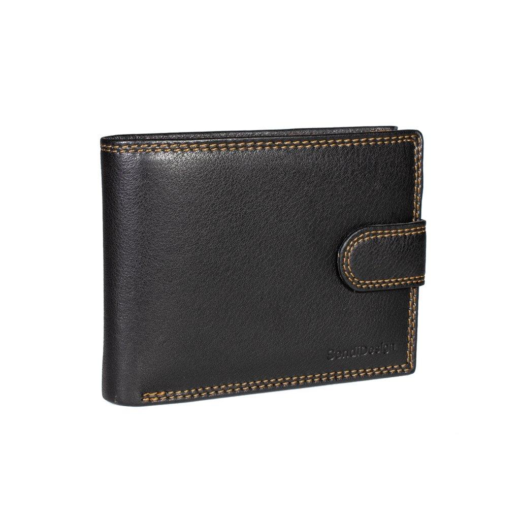 Pánská kožená peněženka D-01L černá