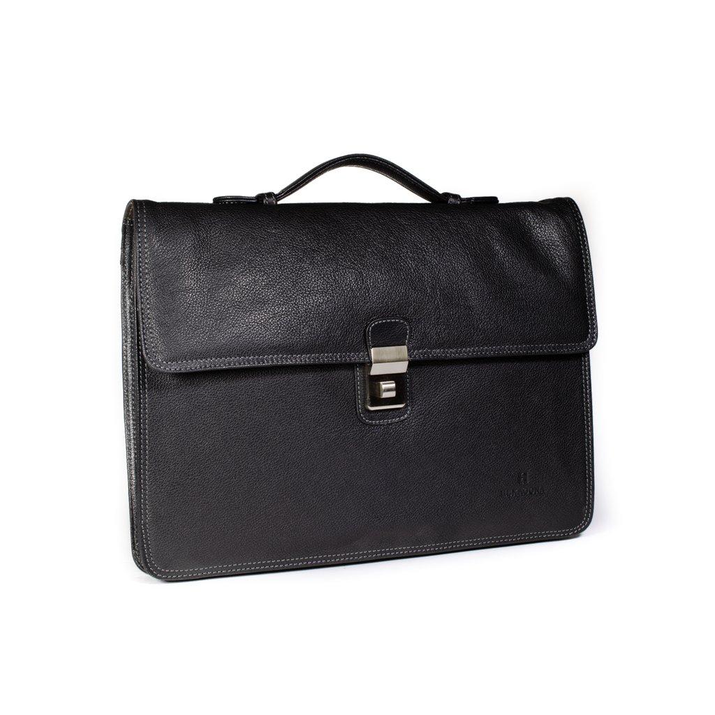 Luxusní kožená aktovka Hexagona 462541 černá