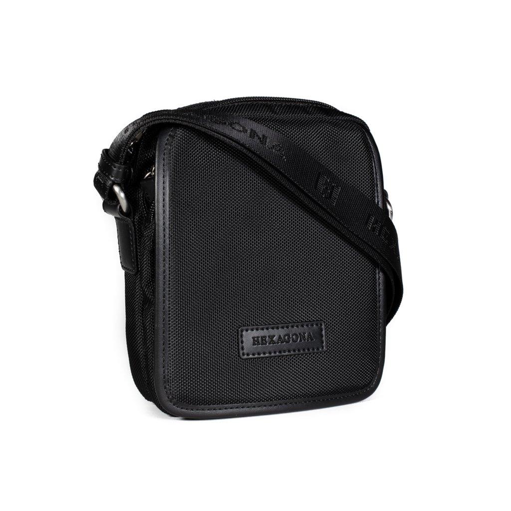 Pánská crossbody taška na doklady Hexagona D72282 černá