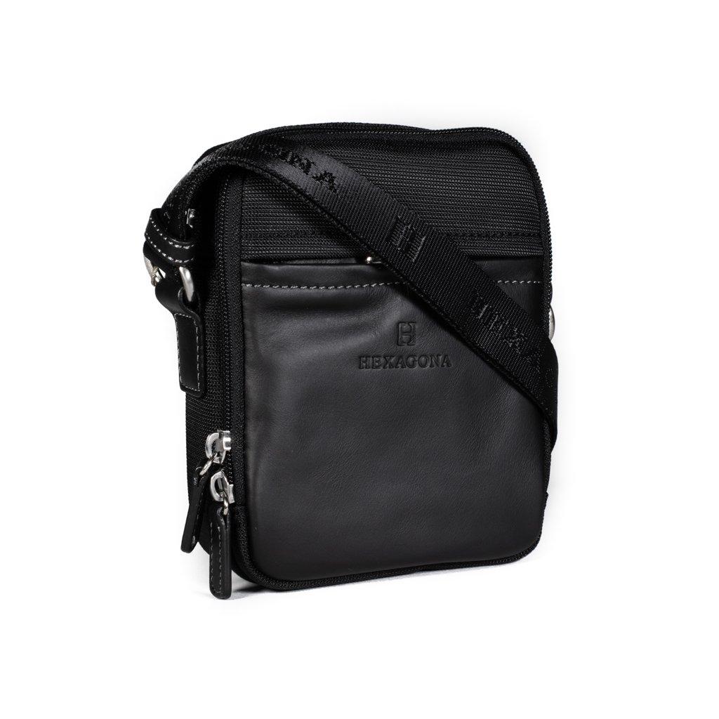 Pánská crossbody taška na doklady Hexagona 291329 černá