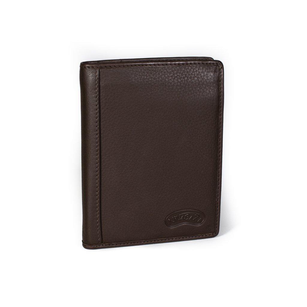 Kožená pánská peněženka Nivasaža N202-PIC hnědá