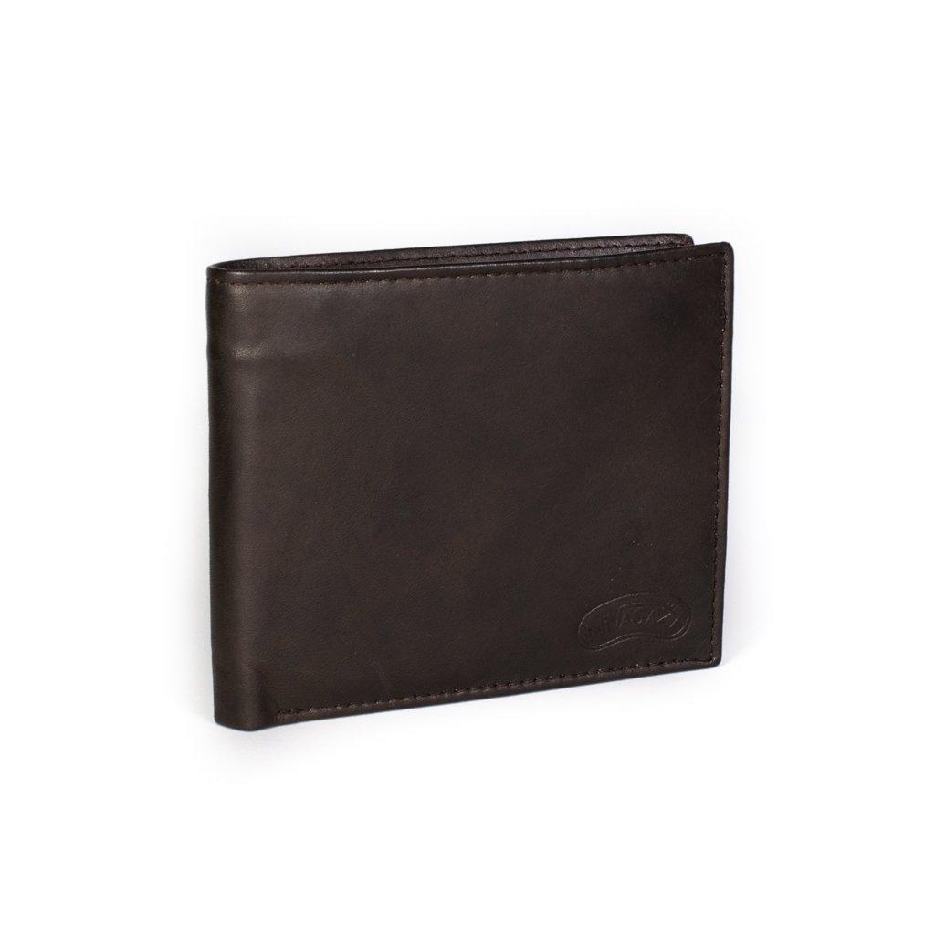 Kožená pánská peněženka Nivasaža N212-MTH hnědá