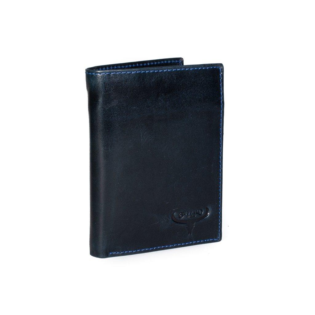 Pánská kožená peněženka Buffalo Wild D1072-VTU modrá
