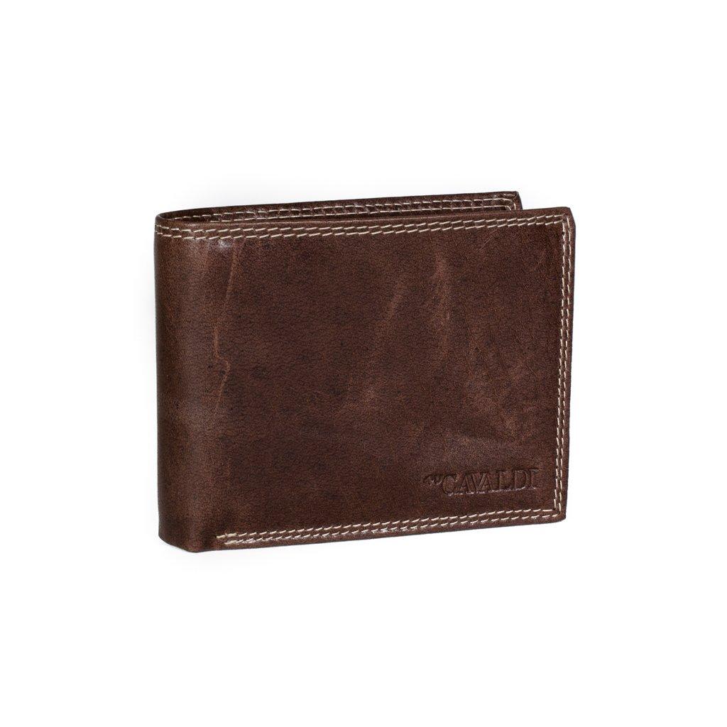 Kožená peněženka pro muže 4U Cavaldi PRM-032 hnědá