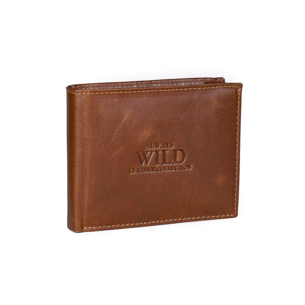 Pánská kožená peněženka Always Wild N992-GT hnědá