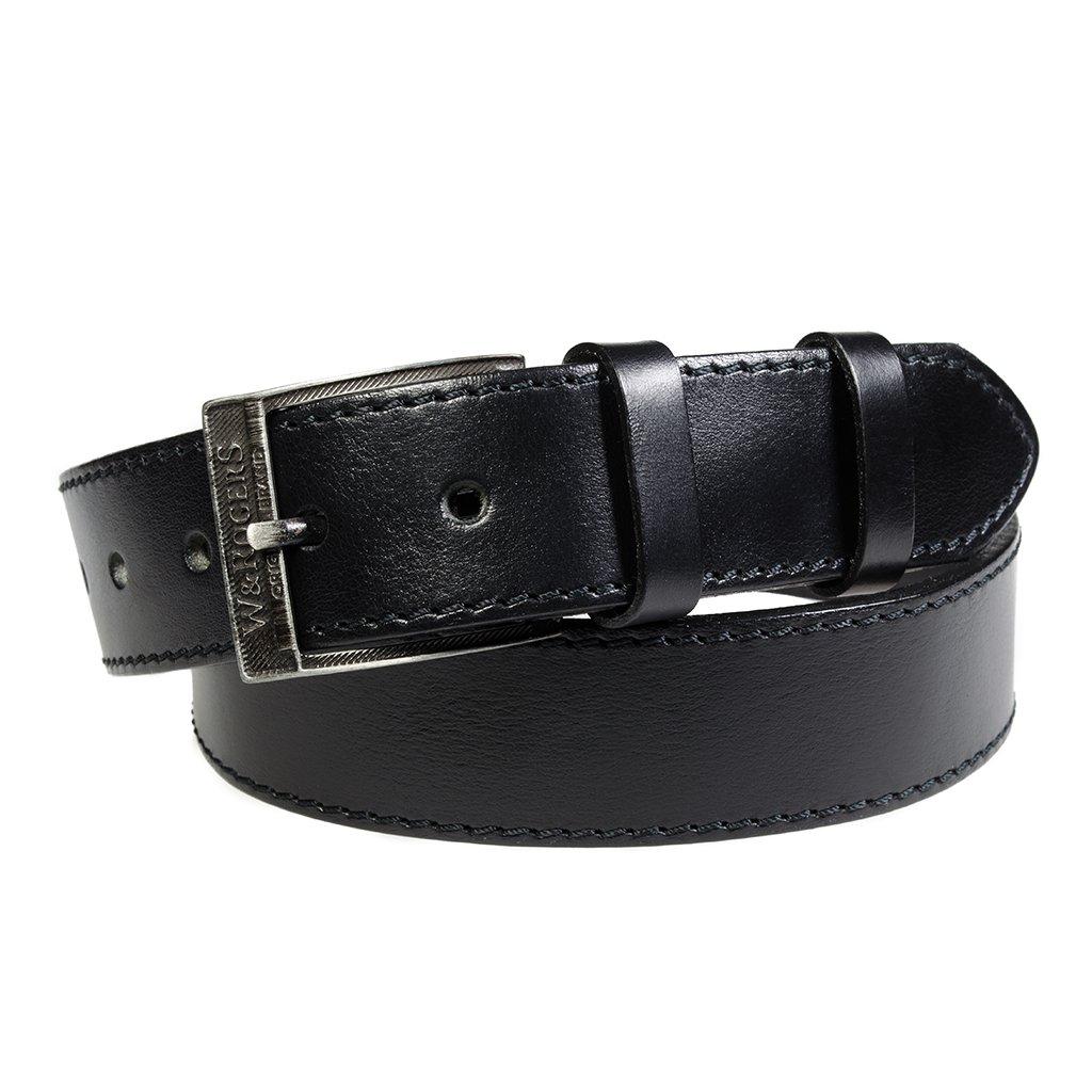 Pánský kožený opasek Penny Belts Claudio černý