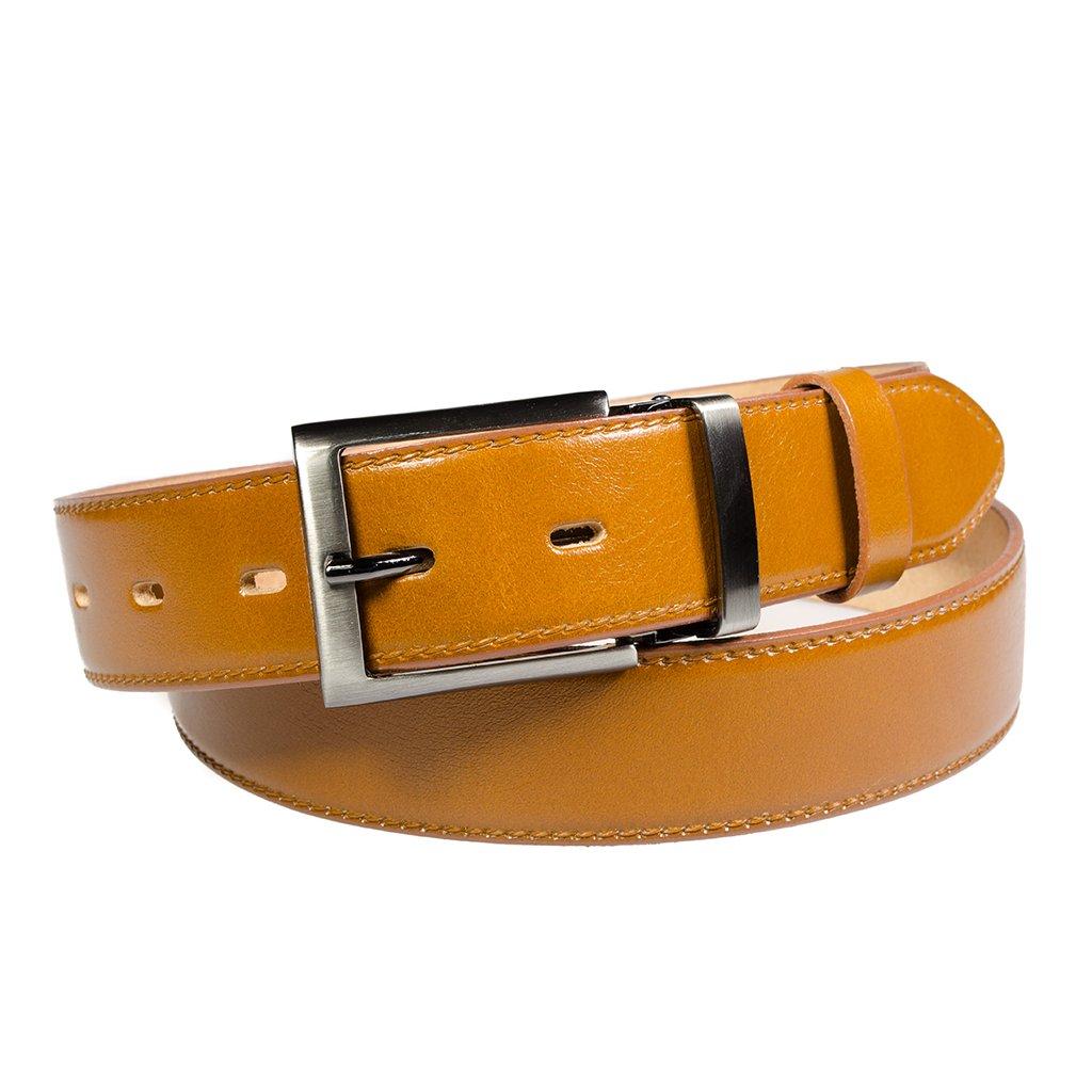 Pánský kožený opasek Penny Belts Matteo hnědý