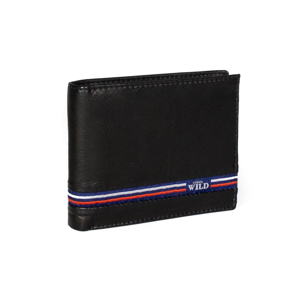 Kožená peněženka Always Wild N992-GV černá