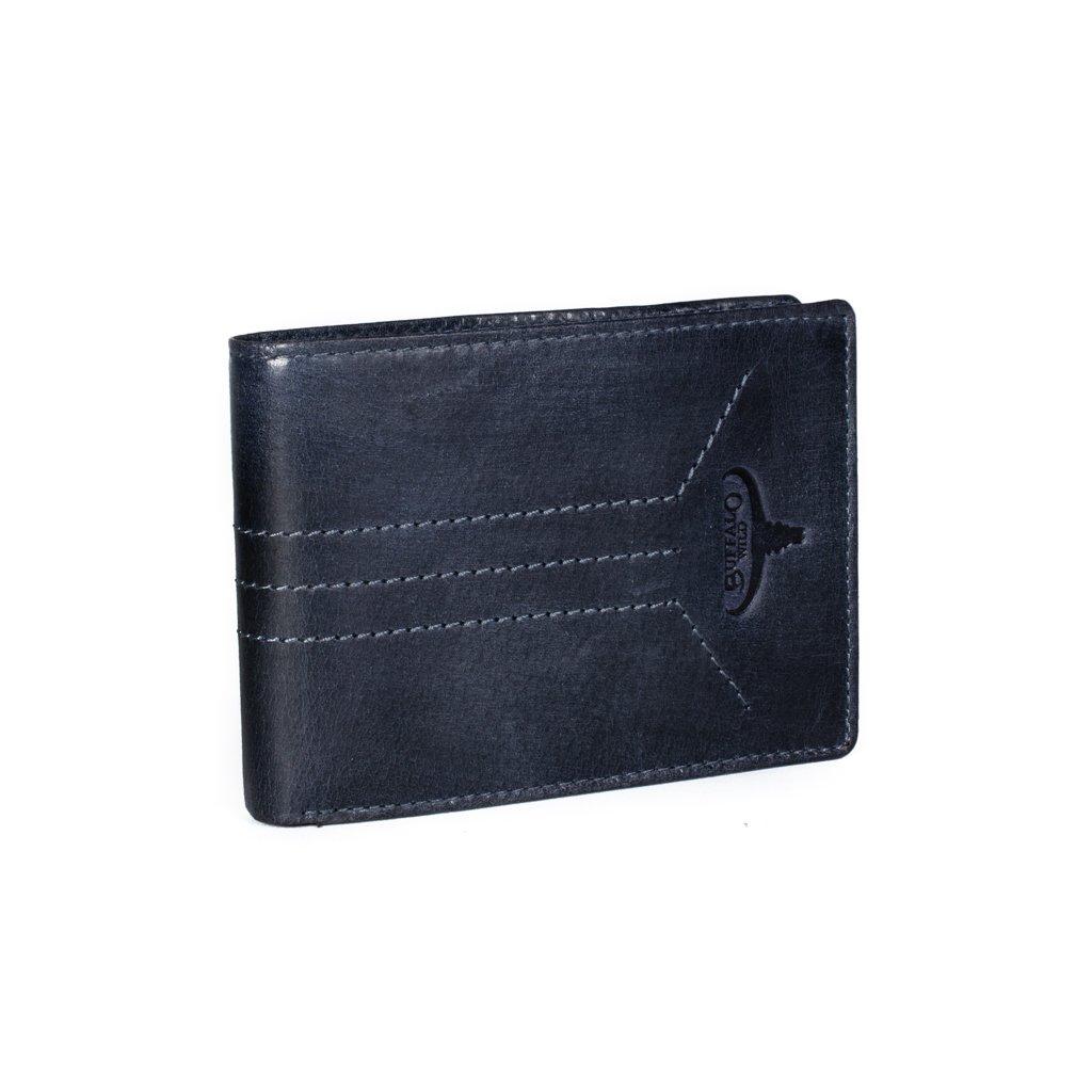 Pánská kožená peněženka Buffalo Wild N992-HP3 modrá
