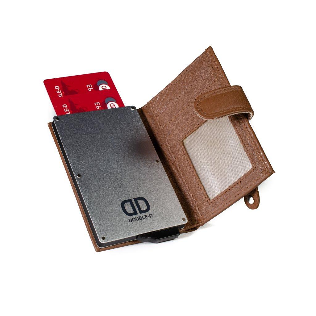 Pouzdro na karty Double-D 17201 hnědé