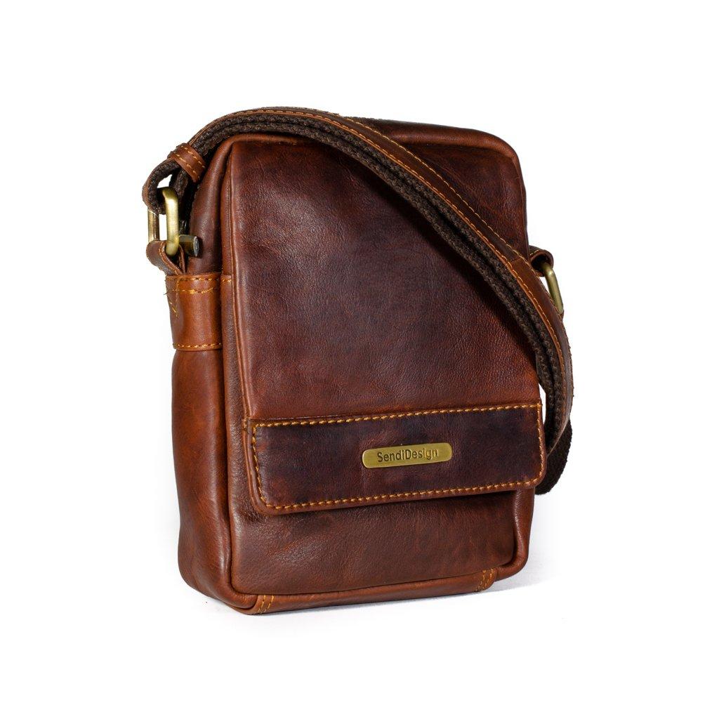 Kožená taška přes rameno SendiDesign SD100 hnědá
