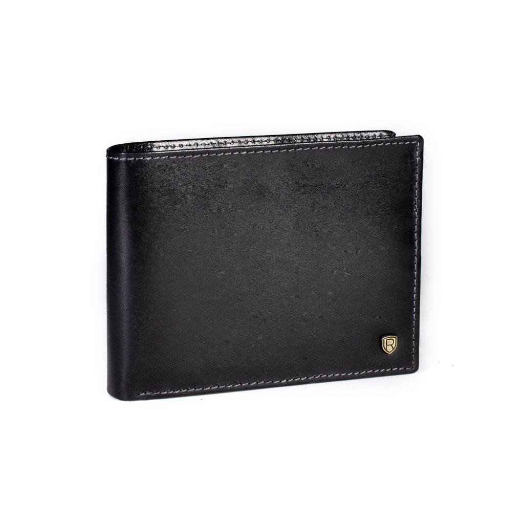 Kožená peněženka Rovicky N992-RVT černá