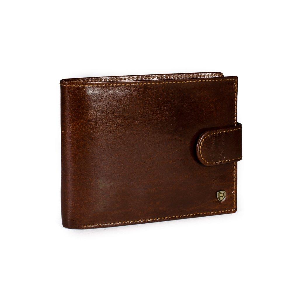 Kožená peněženka Rovicky N992L-RVT hnědá