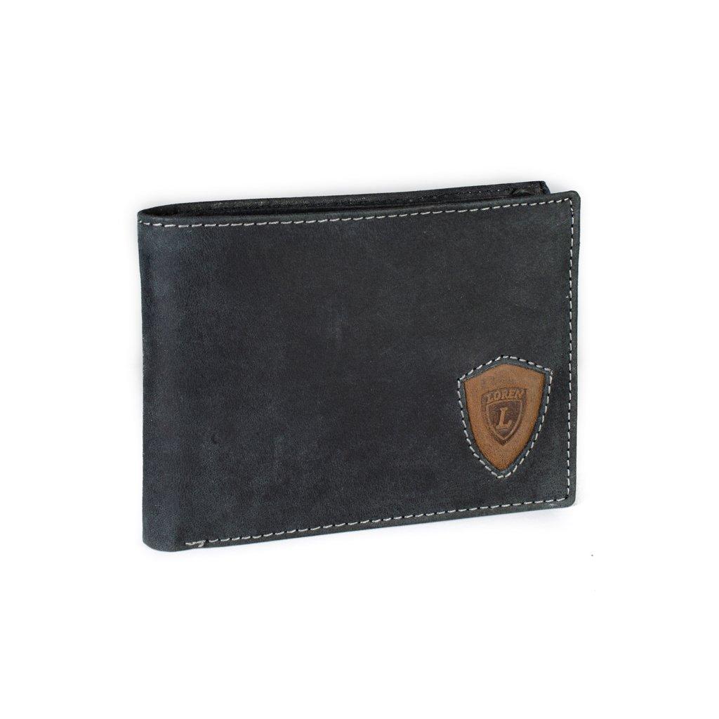 Kožená pánská peněženka Loren N992-STL černá