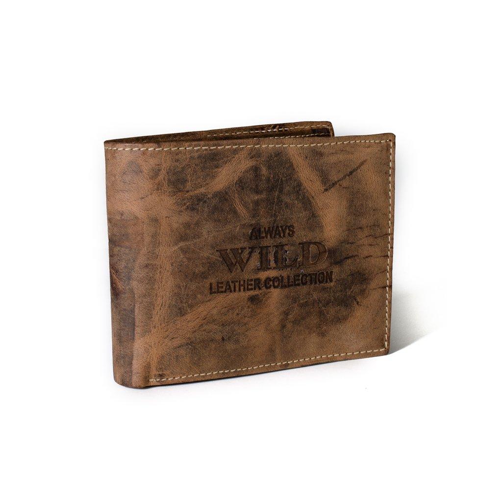 Kožená pánská peněženka Always Wild RMH-03 hnědá