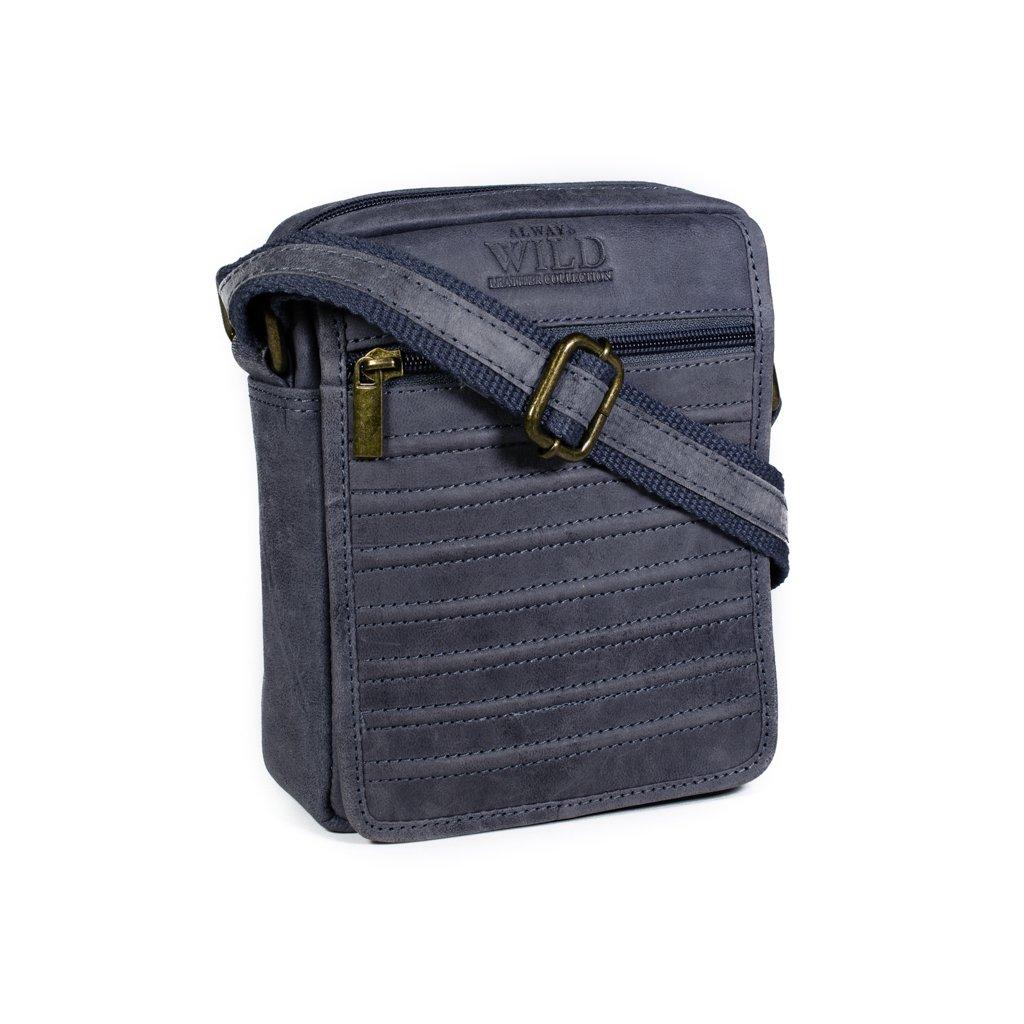 Pánská taška přes rameno Always Wild 1114-TGH modro-šedá