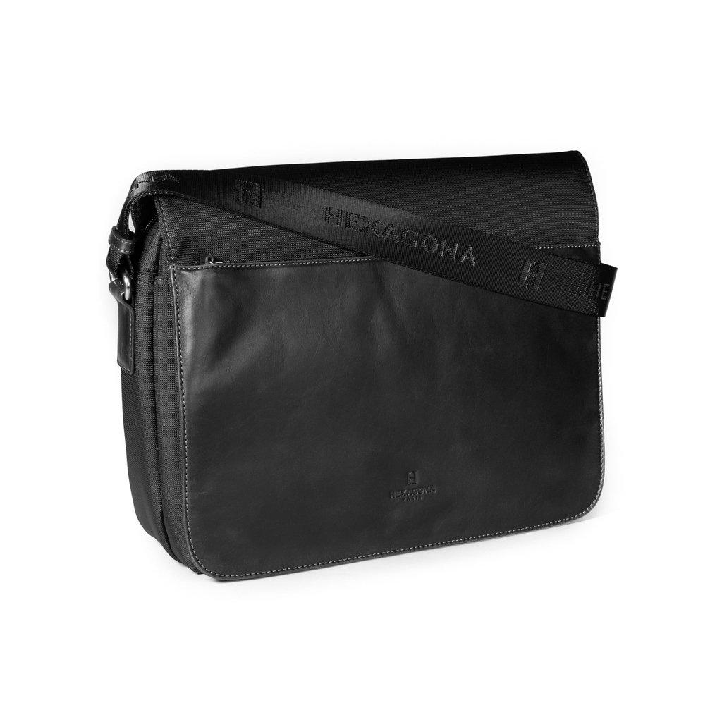 Luxusní pánská taška přes rameno Hexagona 292682 černá
