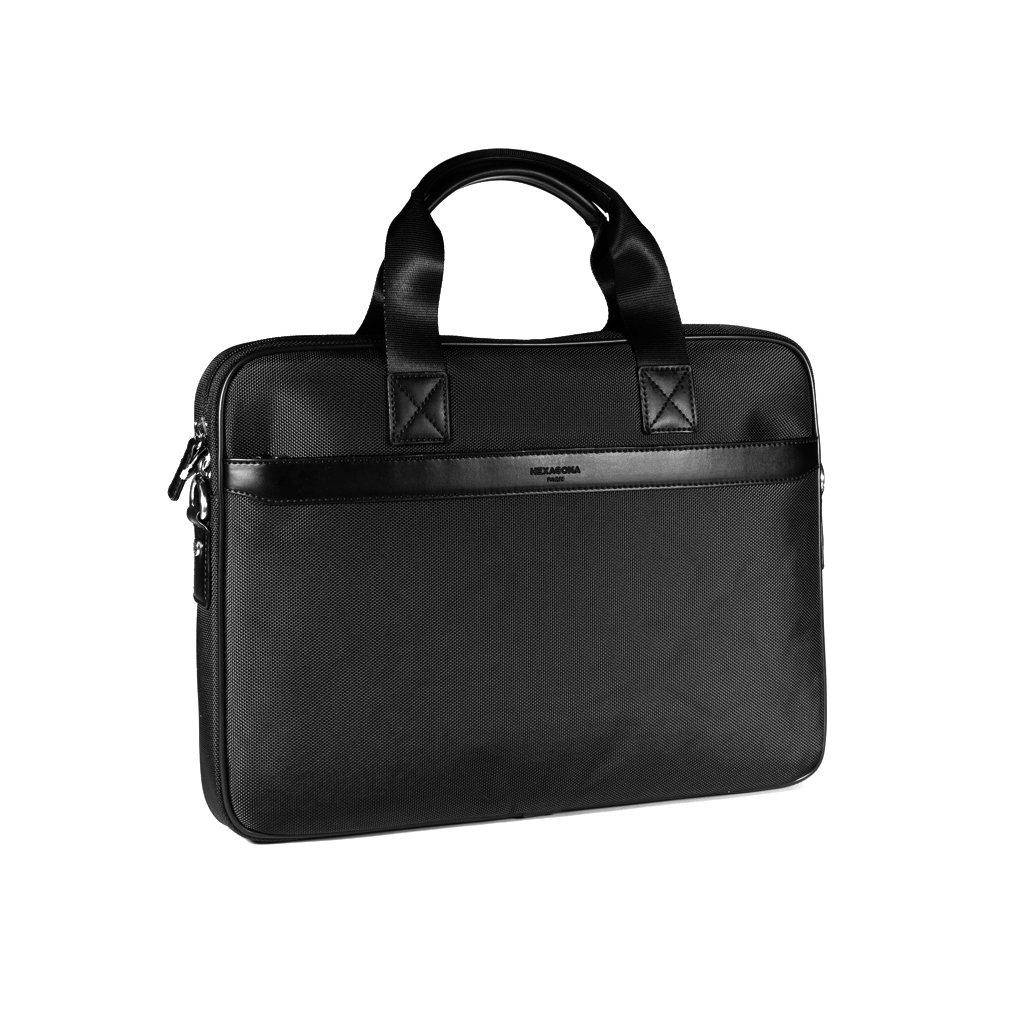 Elegantní pánská taška na notebook Hexagona D75777 černá