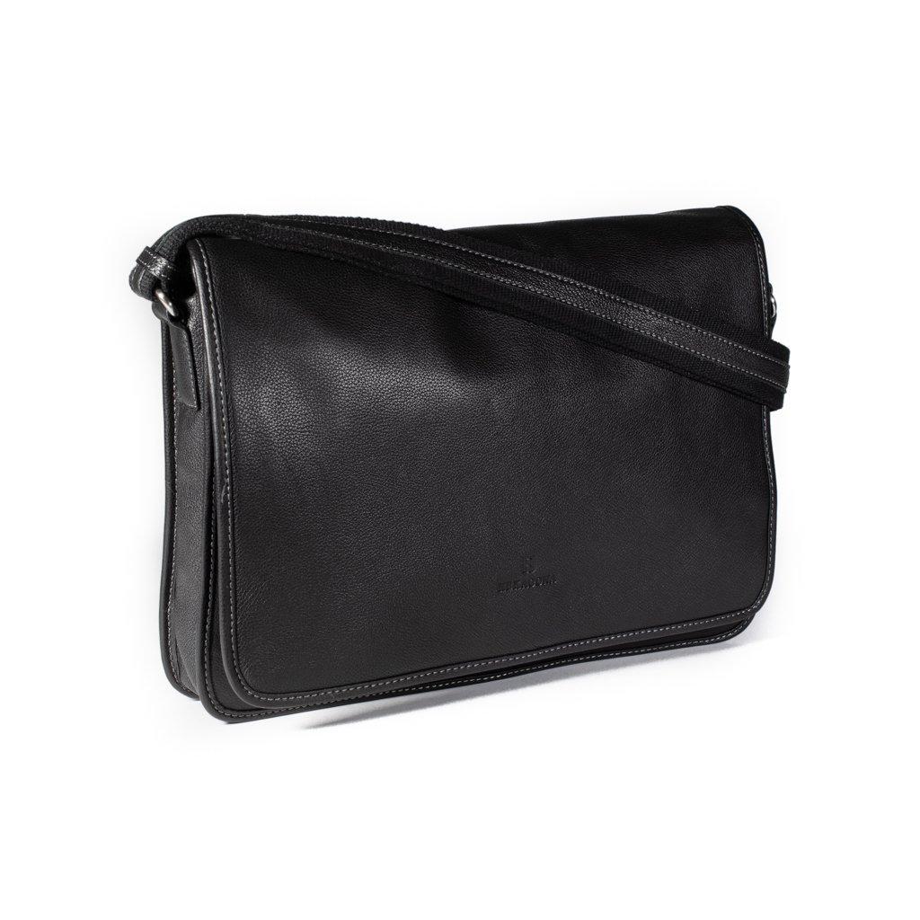 Luxusní kožená pánská taška Hexagona 462817 černá
