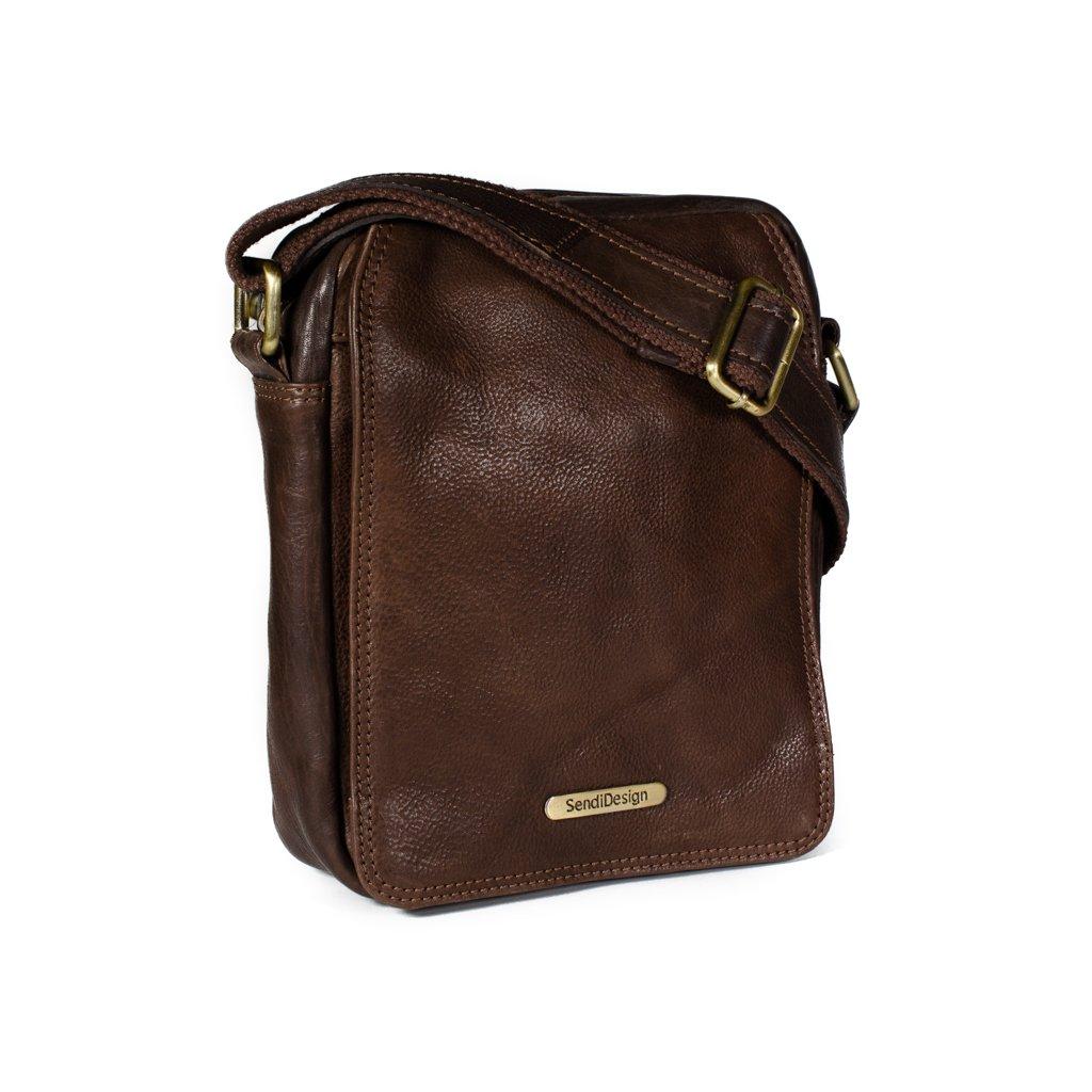 Kožená taška přes rameno SendiDesign SD-52005 hnědá