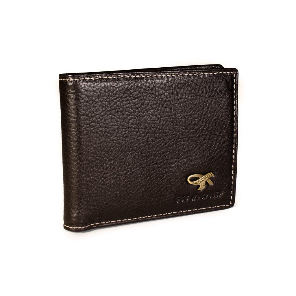 Luxusní kožená pánská peněženka Gil Holsters G317546 hnědá