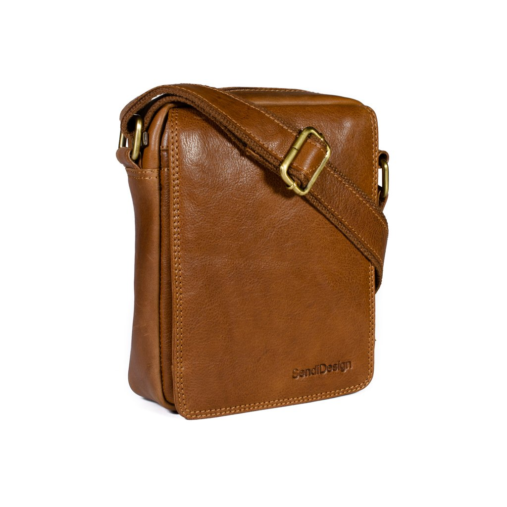 Kožená taška přes rameno SendiDesign Elegant cognac