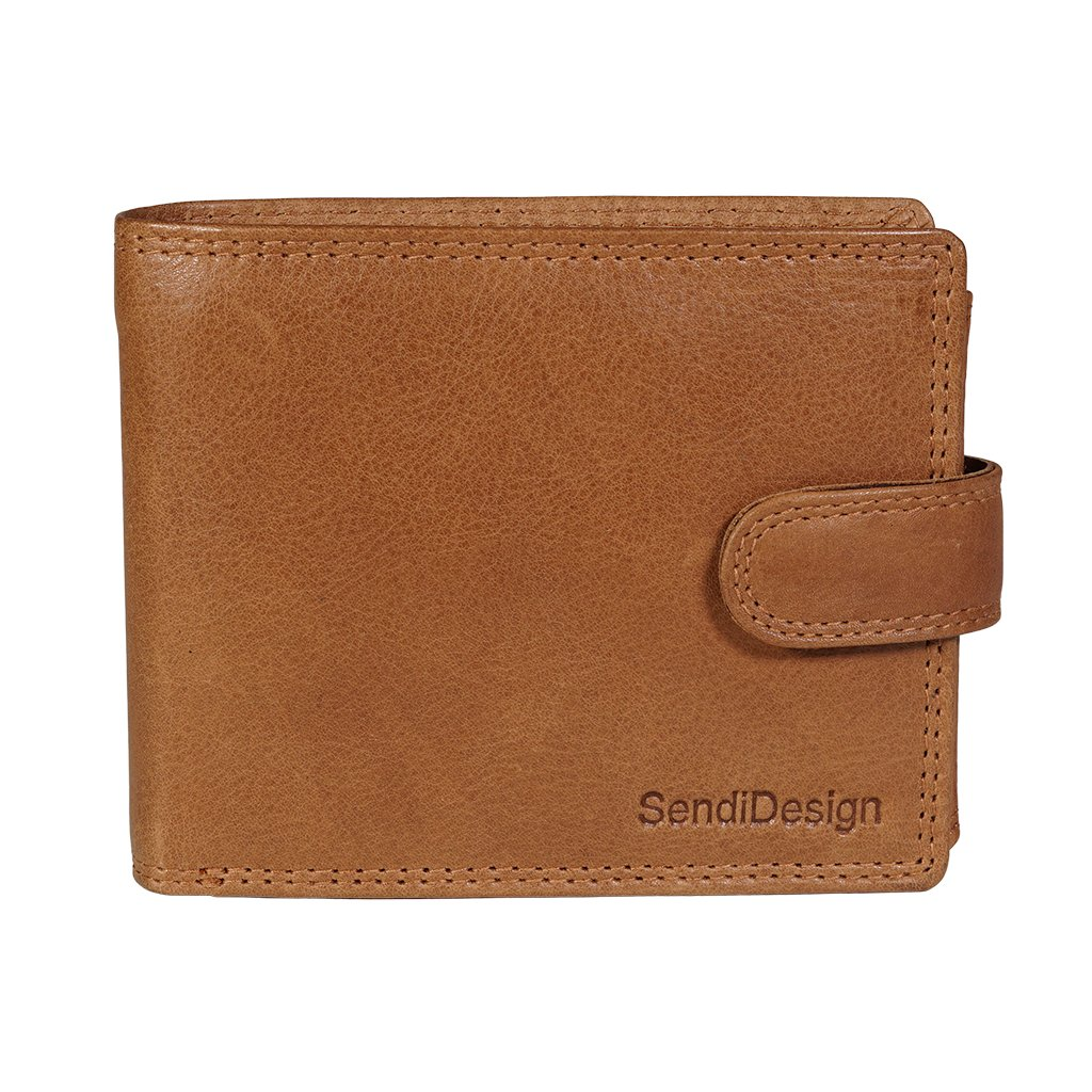 Pánská kožená peněženka SendiDesign Elegant cognac