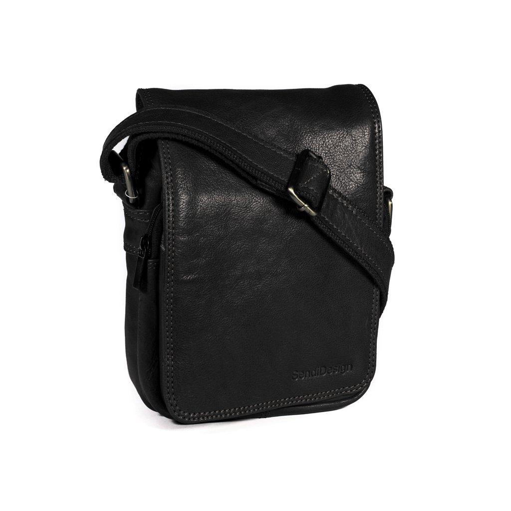 Kožená taška přes rameno SendiDesign M-708 černá