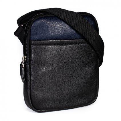 Kožená taška přes rameno Hexagona 686294 černo-modrá (vel. S)