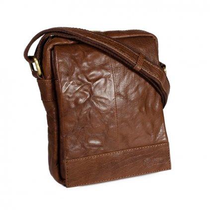 Pánská kožená taška přes rameno SendiDesign SN-1107 hnědá