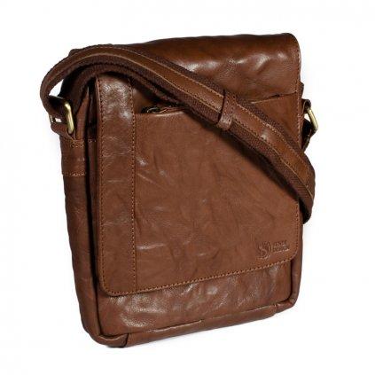 Pánská kožená taška přes rameno SendiDesign SN-1103 hnědá