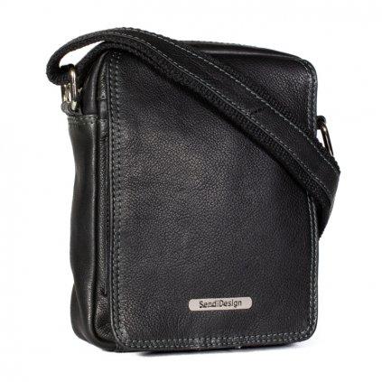 Kožená taška přes rameno SendiDesign SD-52006 černá