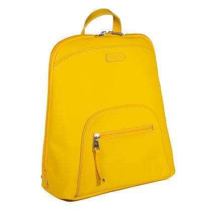Luxusní dámský batoh do města Hexagona Jaune - žlutý