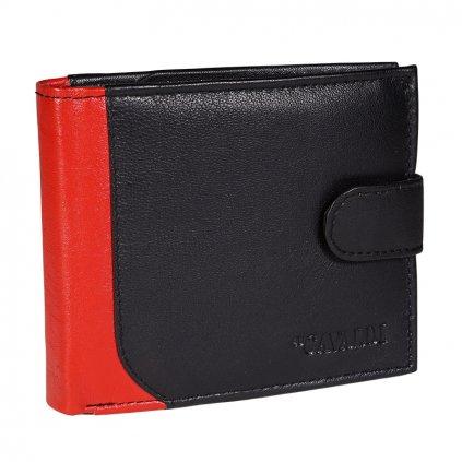 Kožená peněženka pro muže 4U Cavaldi N992L-SPN černá/hnědá