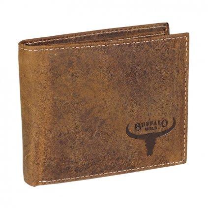 Malá kožená peněženka Buffalo Wild RM-05-HBW/7826 světle hnědá