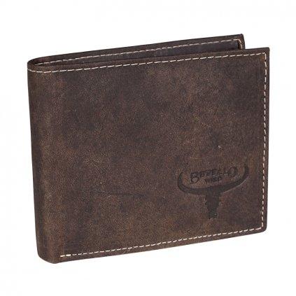 Malá pánská peněženka Buffalo Wild RM-05-HBW/7819 hnědá