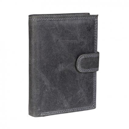 Kožená RFID Secure peněženka N4L-CHM černá
