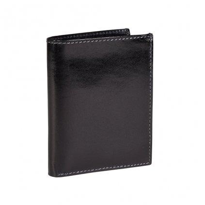 Kožené pouzdro na karty s RFID černé