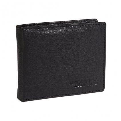 Malá kožená peněženka 4U Cavaldi s RFID černá